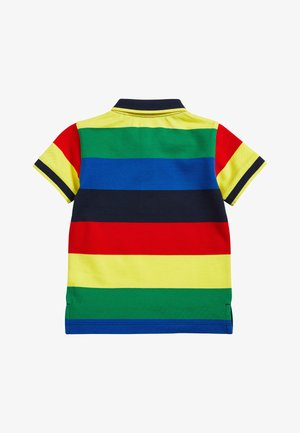 MULTI RAINBOW SHORT SLEEVE POLO TOP (3MTHS-7YRS) - Polotričko - red