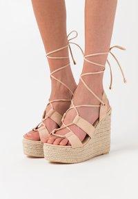 EGO - HATTIE - Sandalen met hoge hak - nude - 0