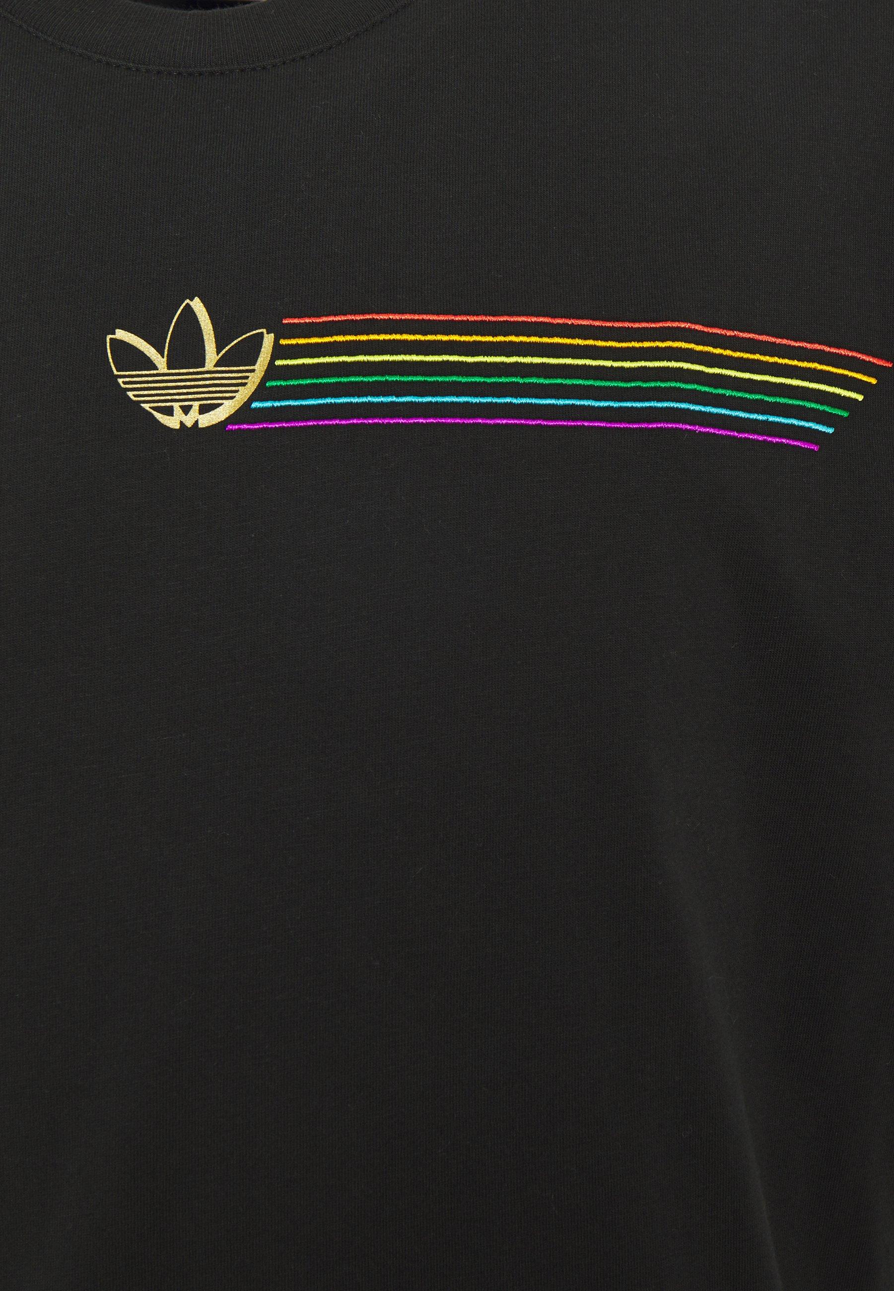 Adidas Originals Pride Short Sleeve Graphic Tee - T-shirt Z Nadrukiem Black
