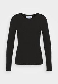Selected Femme - SLFANNA CREW NECK TEE  - Long sleeved top - black - 3