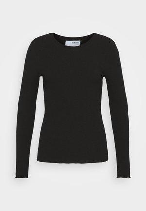 SLFANNA CREW NECK TEE  - Camiseta de manga larga - black