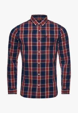 SUPERDRY  - Shirt - navy orange check