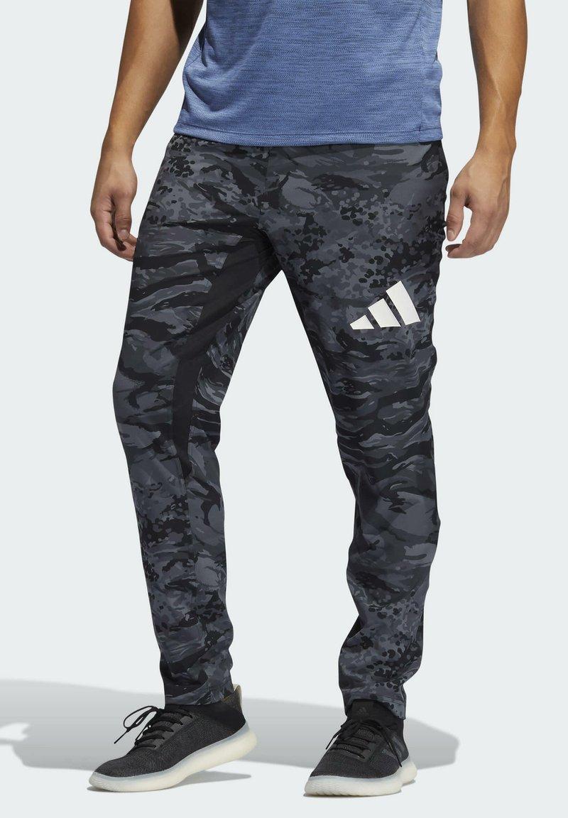 adidas Performance - 3 BAR CAMOUFLAGE DESIGNED4TRAINING PANTS - Träningsbyxor - black