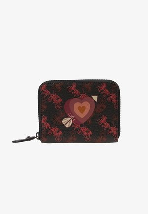 HORSE AND CARRIAGE COATED HEART SMALL ZIP AROUND - Wallet - black oxblood