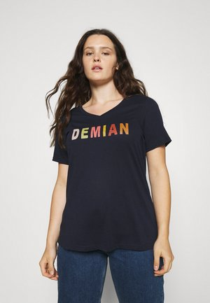 FIERCE STRAIGHT TEE - Print T-shirt - night sky