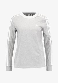 adidas Originals - ADICOLOR 3 STRIPES LONGSLEEVE TEE - Langarmshirt - medium grey heather - 4
