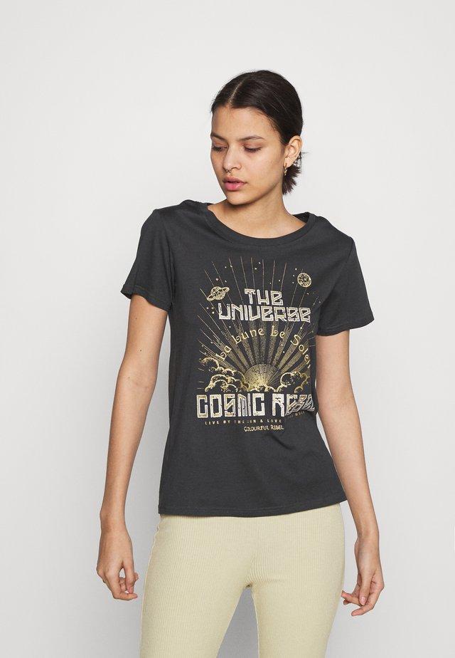 COSMIC REBEL TEE PIRATE  - T-shirt con stampa - black