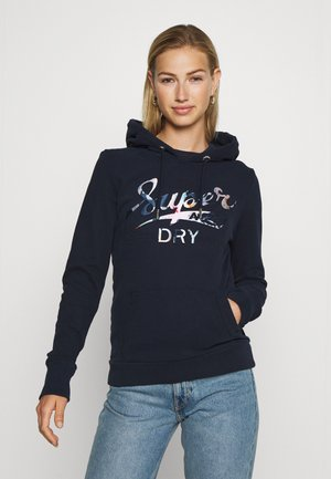 SUPER TROPICAL INFILL HOOD - Hoodie - deep navy
