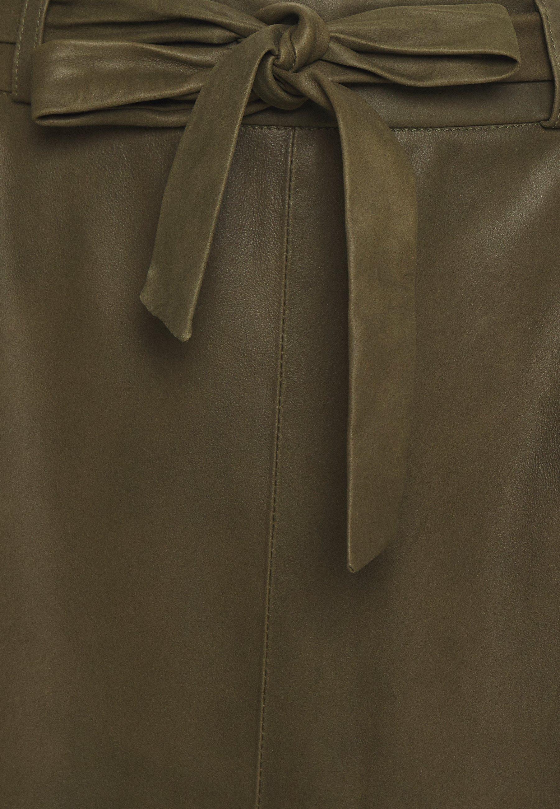 Best Supplier Women's Clothing DEPECHE A SKIRT BELT A-line skirt green txoDz2j5C