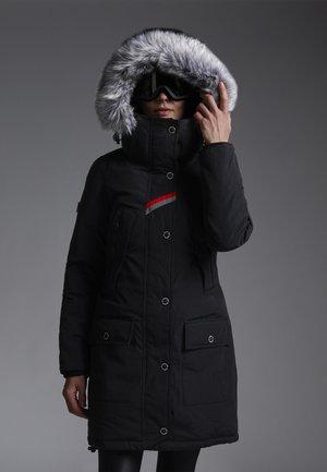 Down coat - black/quartz