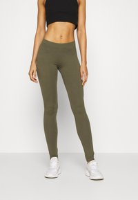 Even&Odd - 2 PACK - Leggings - Trousers -  black olive - 4