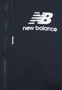 New Balance - ESSENTIALS STACKED FULL ZIP HOODIE - Zip-up hoodie - eclipse
