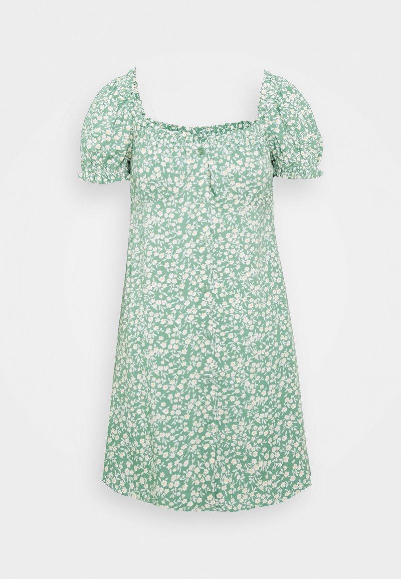 Nly by Nelly - FLIRTY BUTTON DRESS - Vapaa-ajan mekko - light green