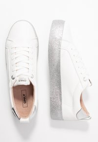 ONLY SHOES - ONLSHERBY GLITTER - Trainers - white - 3