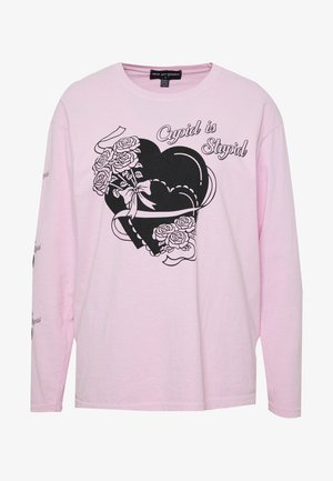 CUPID IS STUPID LONG SLEEVE TEE - Camiseta de manga larga - pink