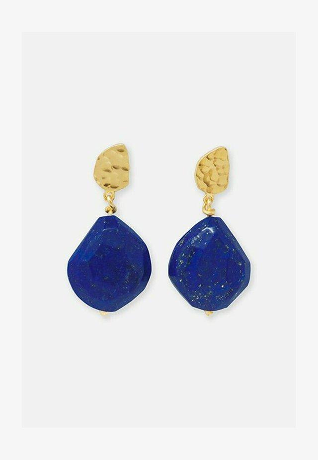 Earrings - blau und gold