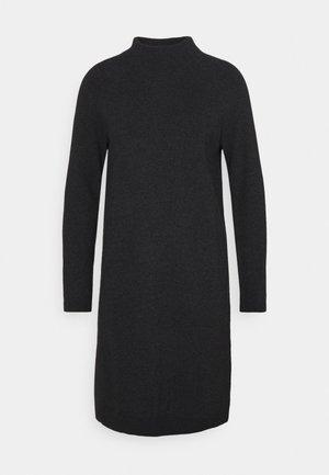 DRESS MIDI - Vestido de punto - black melange