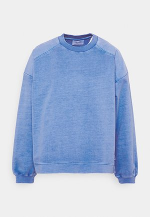 WITH WIDE SLEEVES PATCH DETAIL - Sweatshirt - intense blue