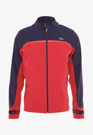 Soft shell jacket - tokyo red/navy blue/flash