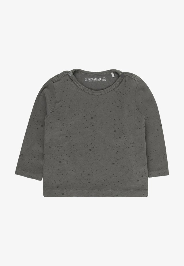 JIP2 - Long sleeved top - stone grey / off white