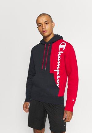 HOODED - Sweatshirt - dark blue/red