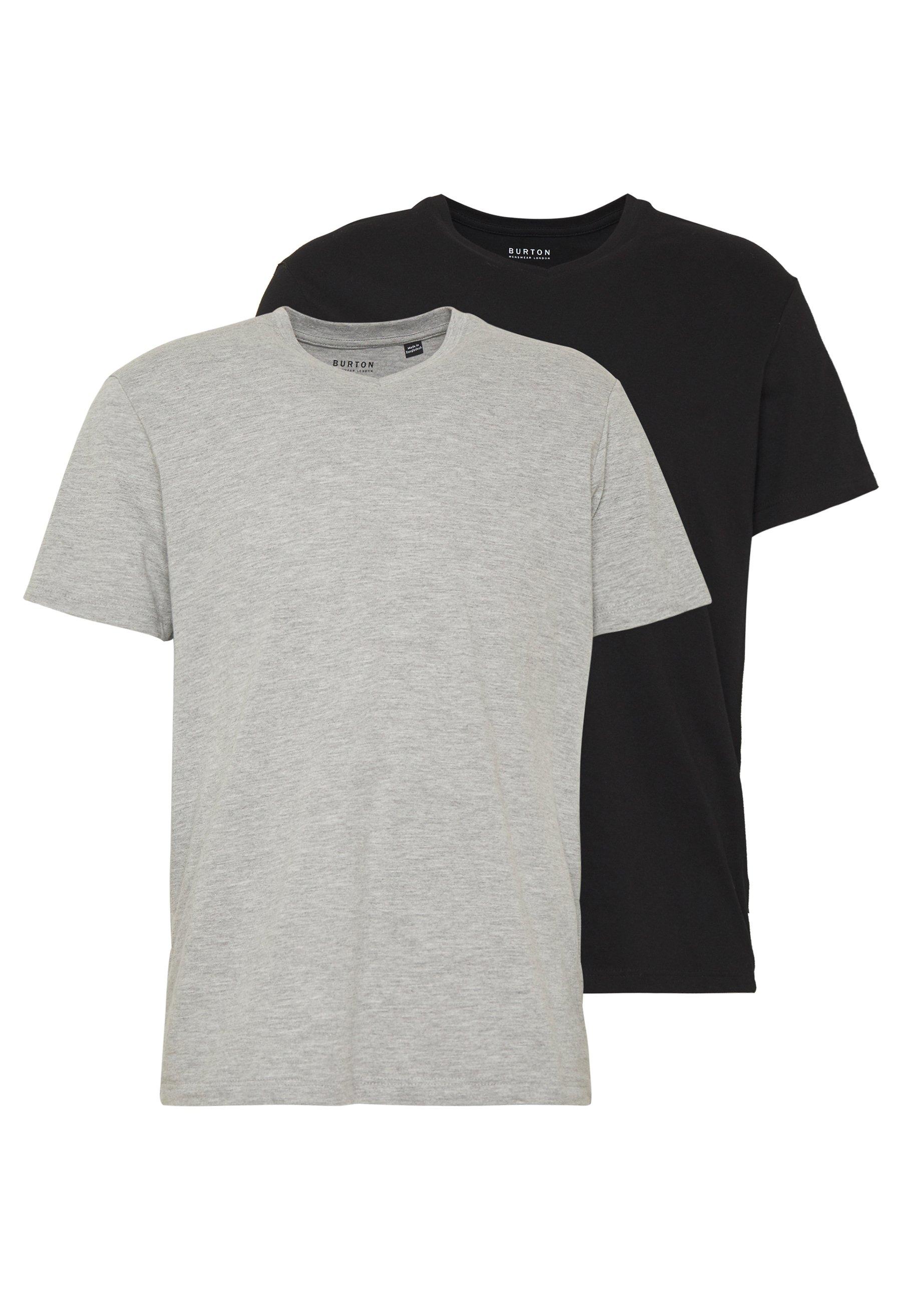Uomo 2 PACK  - T-shirt basic - grey melange
