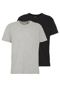 Burton Menswear London - 2 PACK  - Basic T-shirt - grey melange - 0