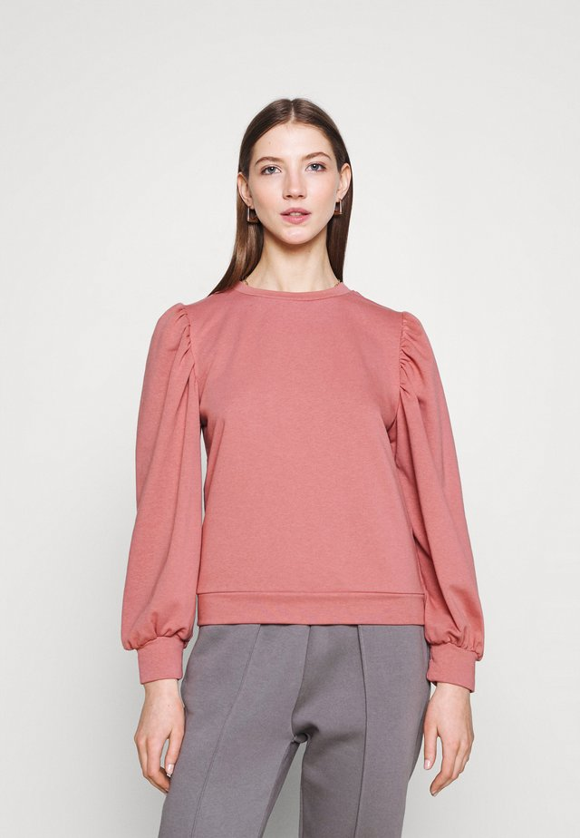 OBJMAJA PULLOVER - Bluza - withered rose
