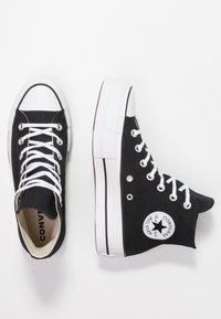 Converse - CHUCK TAYLOR ALL STAR LIFT - Zapatillas altas - black/white - 5