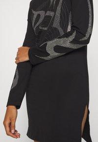 Diesel - T-ROSSINA T-SHIRT - Jersey dress - black - 5