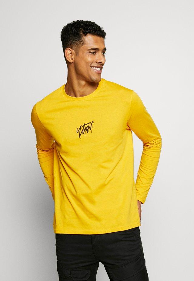 Top sdlouhým rukávem - yellow