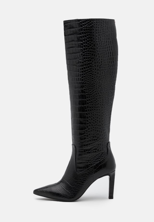 High heeled boots - black lousiana
