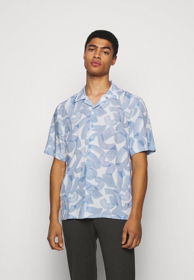 BRUSH PRINT - Košile - white/blue