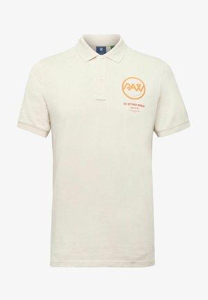 GS RAW GRAPHIC SLIM - Polo shirt - whitebait
