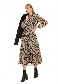 comma - Shirt dress - black zebra lines - 5