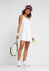 Nike Performance - DRY DRESS - Sports dress - white/black - 1
