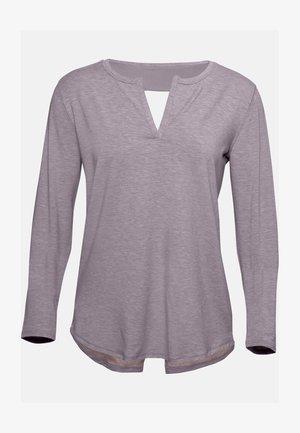 RECOVERY SLEEPWEAR LONGSLEEVE - Long sleeved top - slate purple