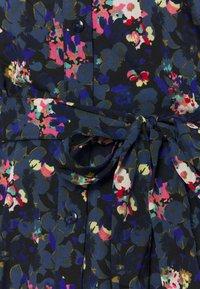 PIECES Tall - PCROSIA MIDI DRESS  - Skjortekjole - black/maritime blue - 2