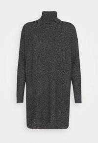 VMBRILLIANT ROLLNECK DRESS - Strikket kjole - black melange