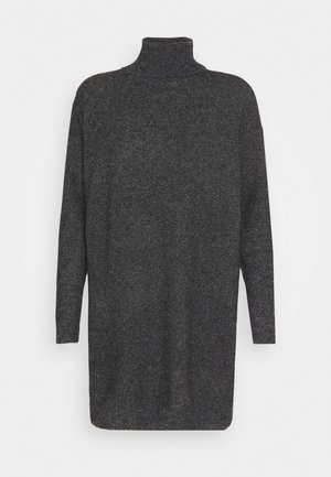VMBRILLIANT ROLLNECK DRESS - Strickkleid - black melange