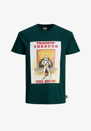 X-MAS STAR WARS - Print T-shirt - ponderosa pine