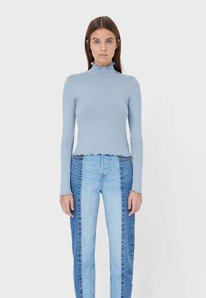 MIT GESMOKTEM KRAGEN - Pitkähihainen paita - blue