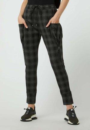 GLENCHECK MODELL 'FUTURE' - Trousers - schwarz