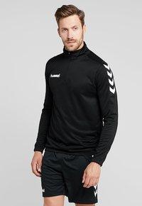 Hummel - CORE ZIP - Langærmede T-shirts - black - 0