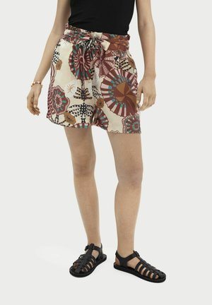 PRINTED HIGH-RISE  - Shorts - combo a