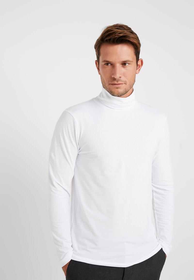 TOM TAILOR DENIM - LONGSLEEVE TURTLENECK  - Long sleeved top - white