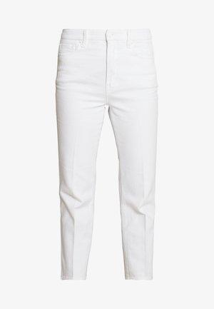 GOOD CURVE  - Džíny Straight Fit - white