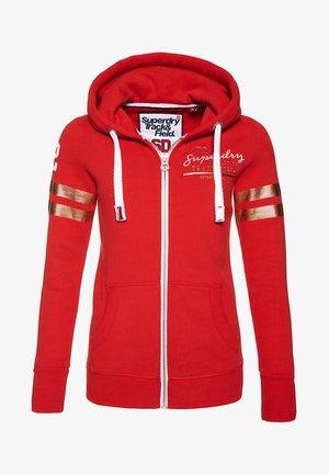 TRACK & FIELD - Zip-up hoodie - red