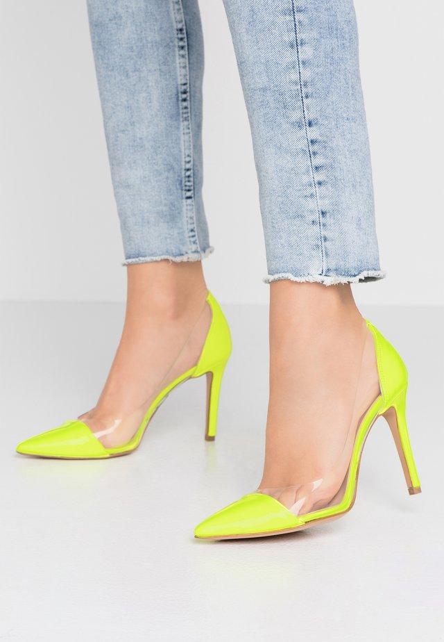 High heels - fluo giallo