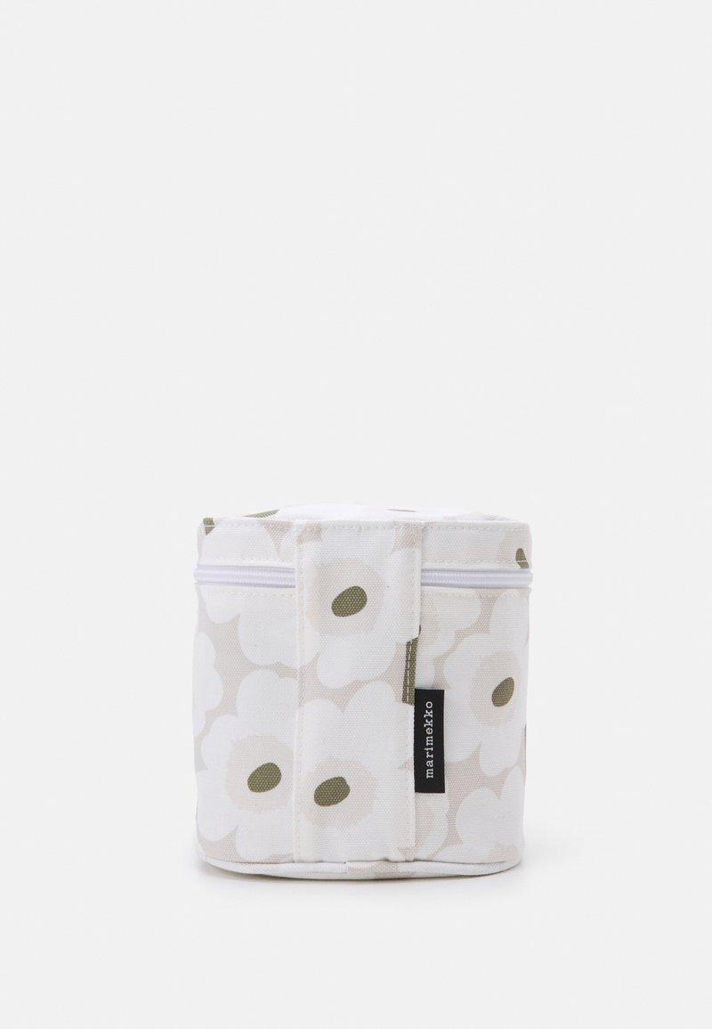 Marimekko - VUOLU MINI UNIKKO COSMETIC BAG - Wash bag - beige/white/greygreen